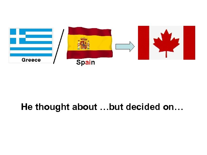 Spain He thought about …but decided on…