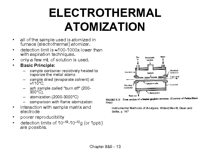 ELECTROTHERMAL ATOMIZATION • • all of the sample used is atomized in furnace (electrothermal)