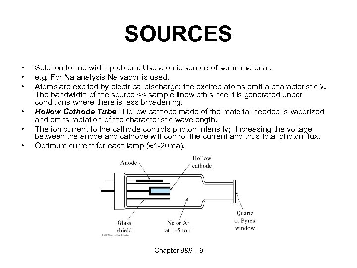 SOURCES • • • Solution to line width problem: Use atomic source of same