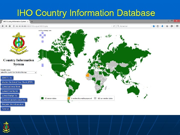 IHO Country Information Database
