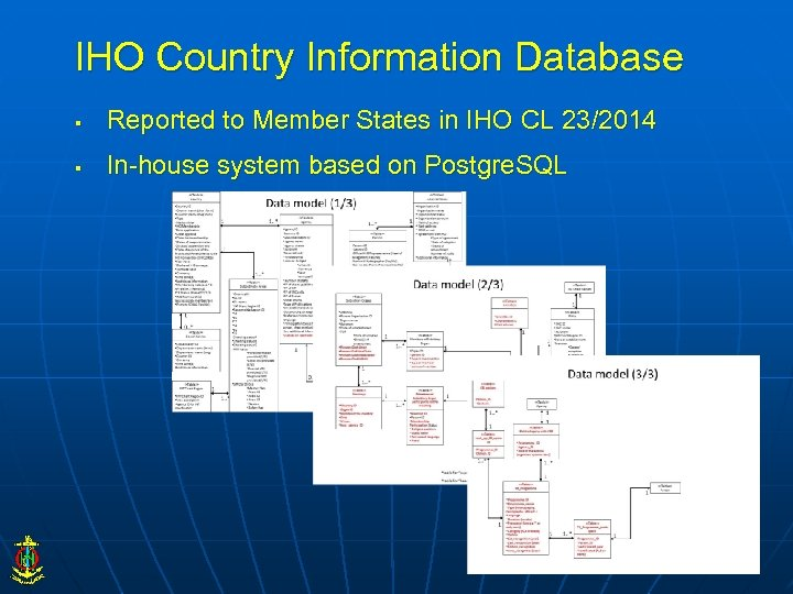 IHO Country Information Database § Reported to Member States in IHO CL 23/2014 §