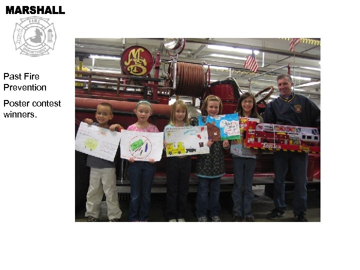 Past Fire Prevention Poster contest winners.