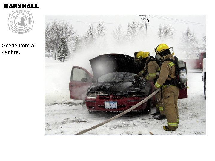 Scene from a car fire.