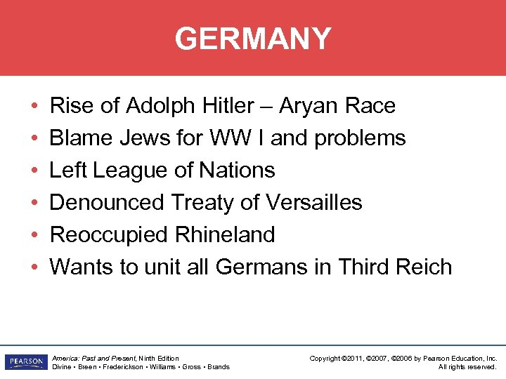 GERMANY • • • Rise of Adolph Hitler – Aryan Race Blame Jews for