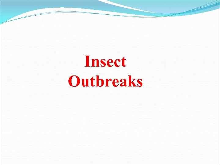 Insect Outbreaks