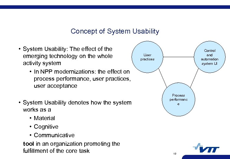 Concept of System Usability • System Usability: The effect of the emerging technology on