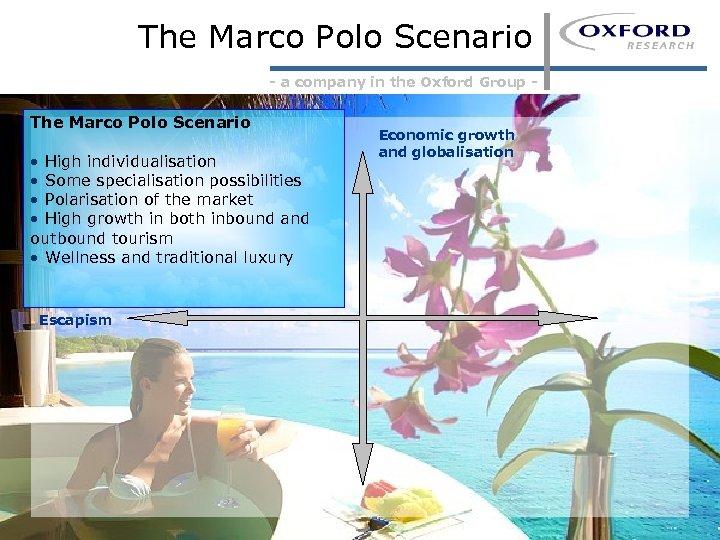 The Marco Polo Scenario - a company in the Oxford Group - The Marco