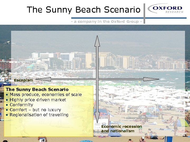The Sunny Beach Scenario - a company in the Oxford Group - Escapism The