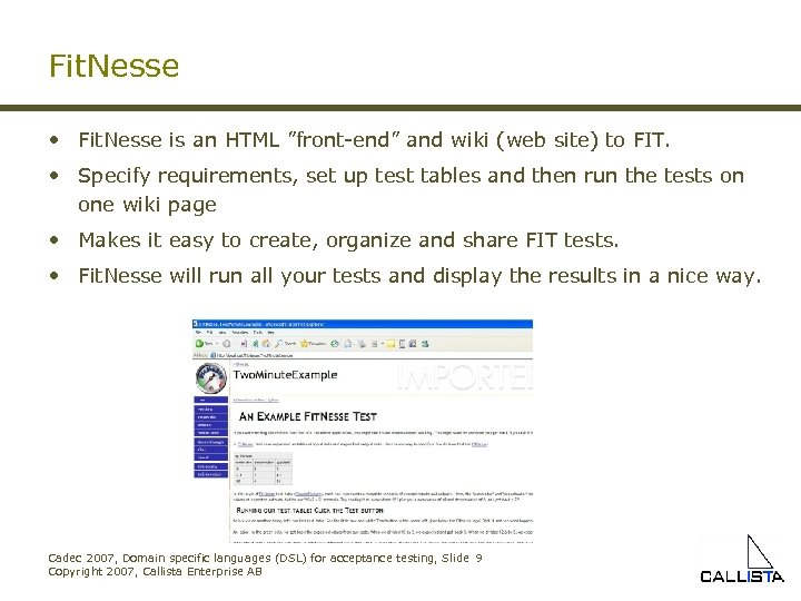 """Fit. Nesse • Fit. Nesse is an HTML """"front-end"""" and wiki (web site) to"""