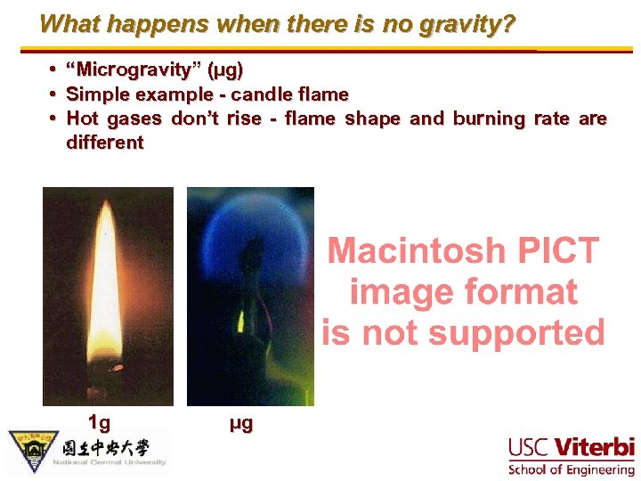 """What happens when there is no gravity? • """"Microgravity"""" (µg) • Simple example -"""