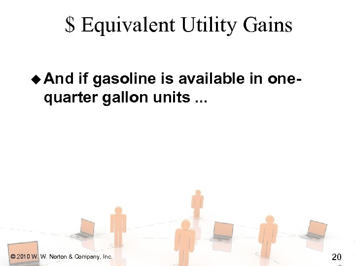 $ Equivalent Utility Gains u And if gasoline is available in onequarter gallon units.