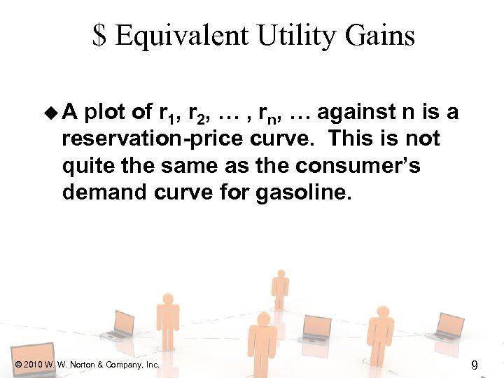 $ Equivalent Utility Gains u. A plot of r 1, r 2, … ,