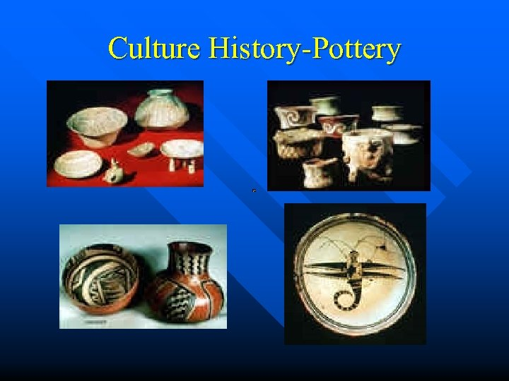 Culture History-Pottery
