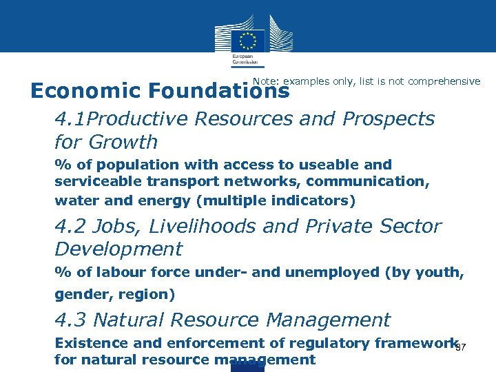 Note: examples only, list is not comprehensive Economic Foundations Ø 4. 1 Productive Resources