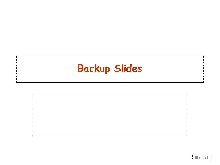 Backup Slides Slide 21
