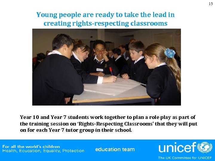 15 Young people are ready to take the lead in creating rights-respecting classrooms Year