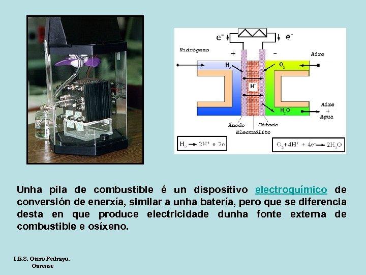 Unha pila de combustible é un dispositivo electroquímico de conversión de enerxía, similar a