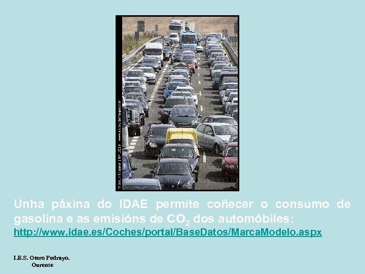 Unha páxina do IDAE permite coñecer o consumo de gasolina e as emisións de