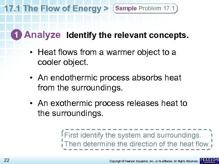 17. 1 The Flow of Energy > Sample Problem 17. 1 1 Analyze Identify