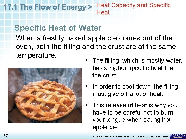 17. 1 The Flow of Energy > Heat Capacity and Specific Heat of Water