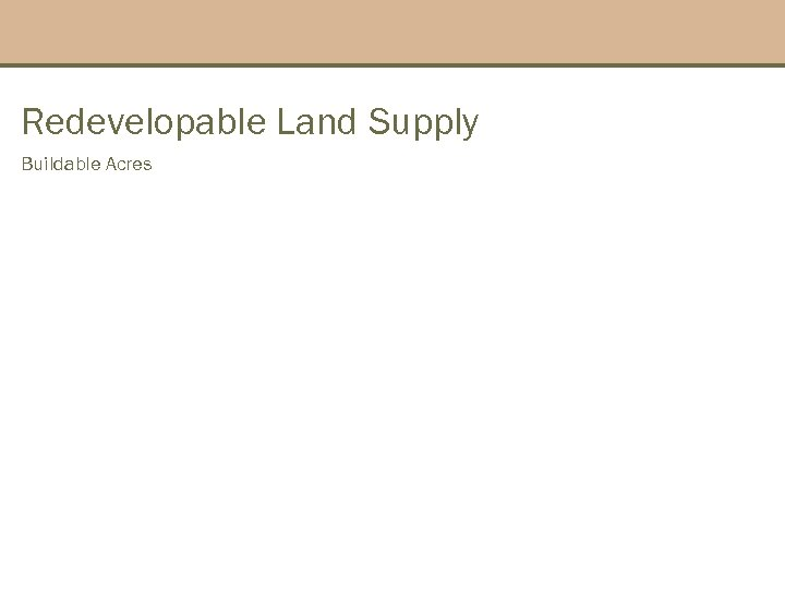 Redevelopable Land Supply Buildable Acres