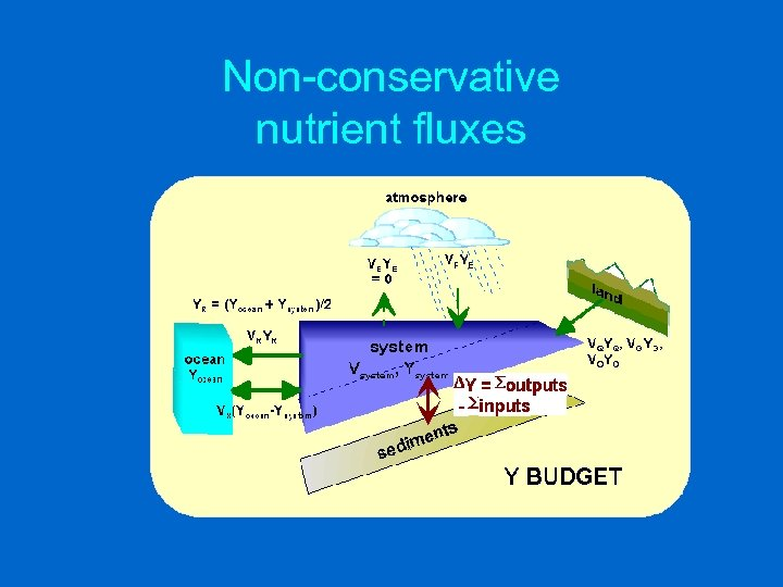 Non-conservative nutrient fluxes