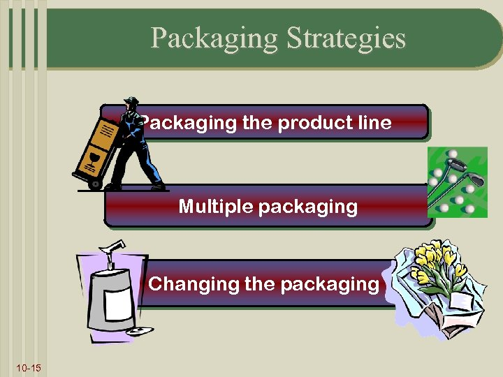 Packaging Strategies Packaging the product line Multiple packaging Changing the packaging 10 -15