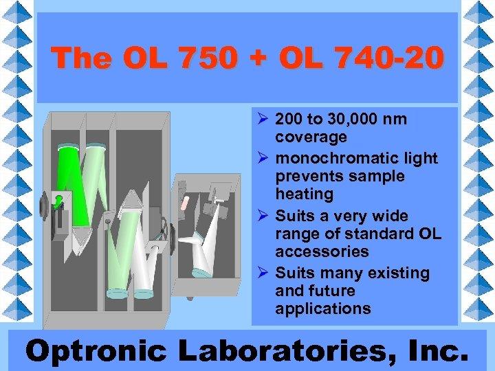 The OL 750 + OL 740 -20 Ø 200 to 30, 000 nm coverage