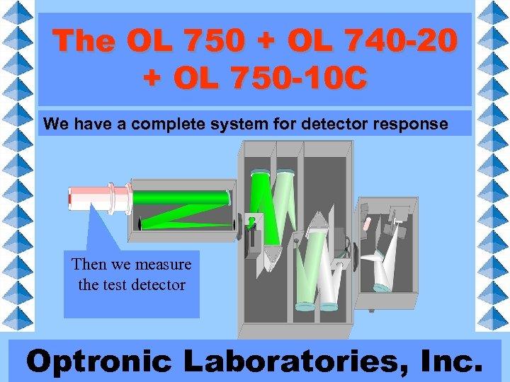 The OL 750 + OL 740 -20 + OL 750 -10 C We have
