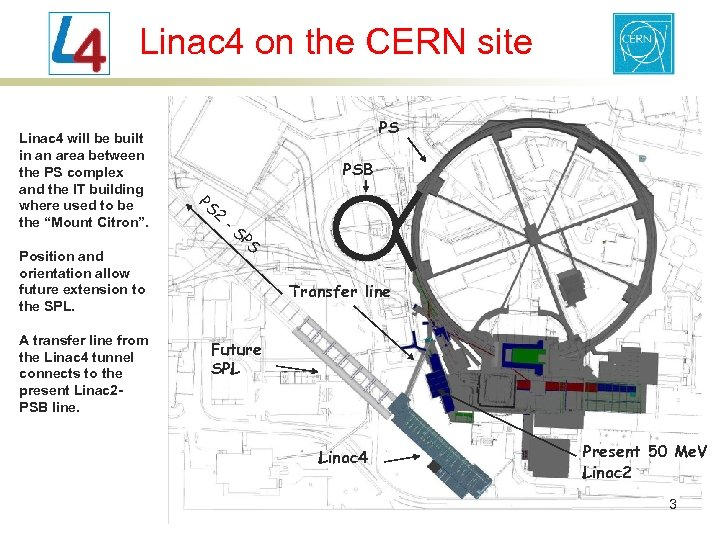 Linac 4 on the CERN site Linac 4 will be built in an area