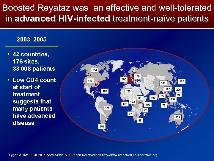 Boosted Reyataz was an effective and well-tolerated in advanced HIV-infected treatment-naïve patients 2003– 2005