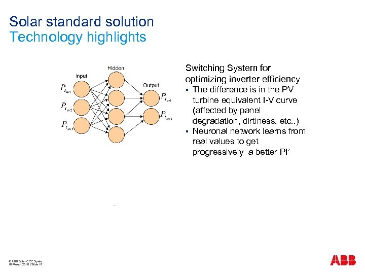 Solar standard solution Technology highlights Switching System for optimizing inverter efficiency § § ©