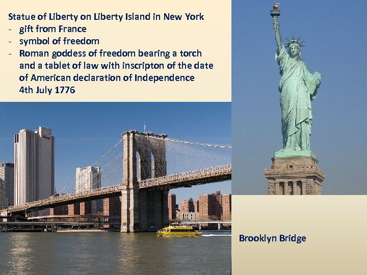 Statue of Liberty on Liberty Island in New York - gift from France -