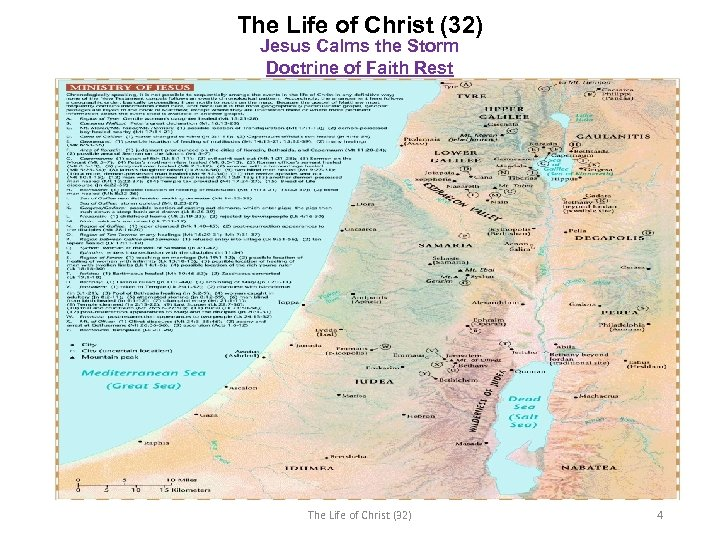 The Life of Christ (32) Jesus Calms the Storm Doctrine of Faith Rest The