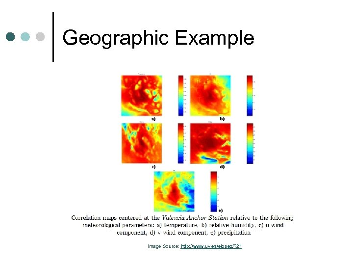 Geographic Example Image Source: http: //www. uv. es/elopez/? 21