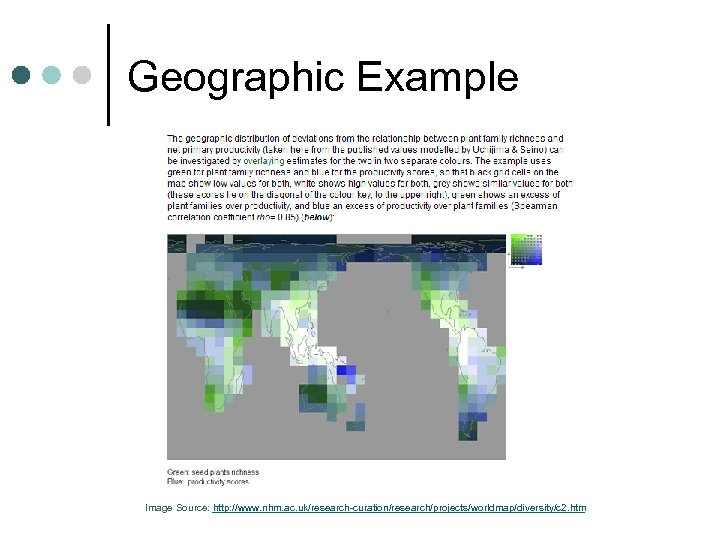 Geographic Example Image Source: http: //www. nhm. ac. uk/research-curation/research/projects/worldmap/diversity/c 2. htm