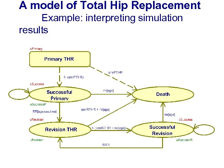 A model of Total Hip Replacement Example: interpreting simulation results