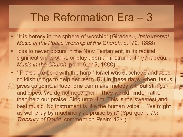 """The Reformation Era – 3 • """"It is heresy in the sphere of worship"""""""