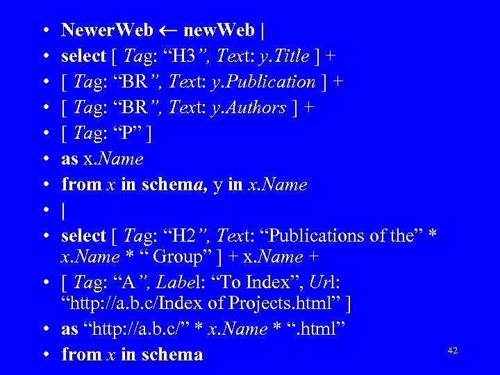 """Newer. Web new. Web   select [ Tag: """"H 3"""", Text: y. Title ]"""