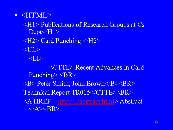 • <HTML> <H 1> Publications of Research Groups at Cs Dept</H 1> <H