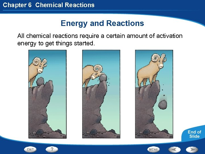 Chapter 6 Chemical Reactions Energy and Reactions All chemical reactions require a certain amount