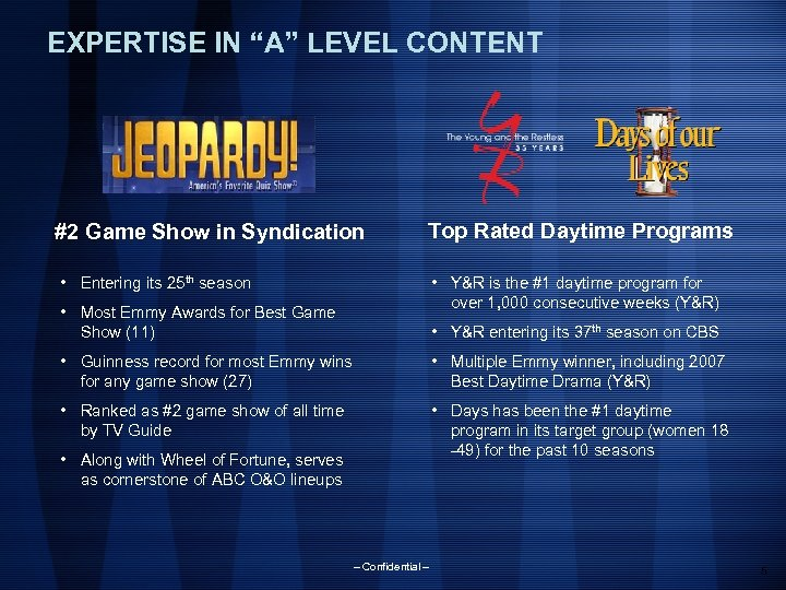 """EXPERTISE IN """"A"""" LEVEL CONTENT #2 Game Show in Syndication Top Rated Daytime Programs"""