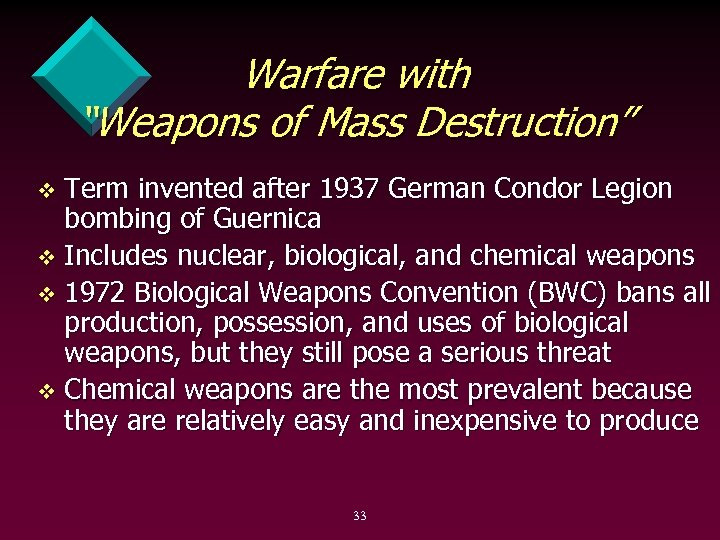 """Warfare with """"Weapons of Mass Destruction"""" Term invented after 1937 German Condor Legion bombing"""