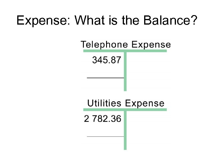 Expense: What is the Balance?