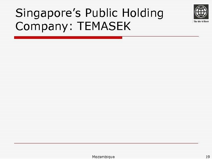 Singapore's Public Holding Company: TEMASEK Mozambique 19