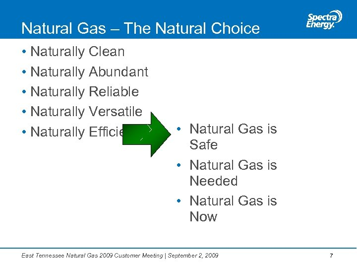 Natural Gas – The Natural Choice • Naturally Clean • Naturally Abundant • Naturally