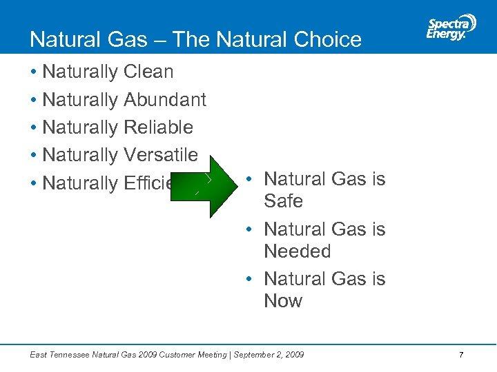 Natural Gas – The Natural Choice • Naturally Clean • Naturally Abundant • Naturally