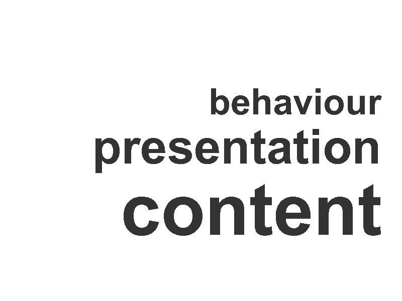 behaviour presentation content