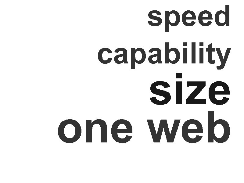 speed capability size one web