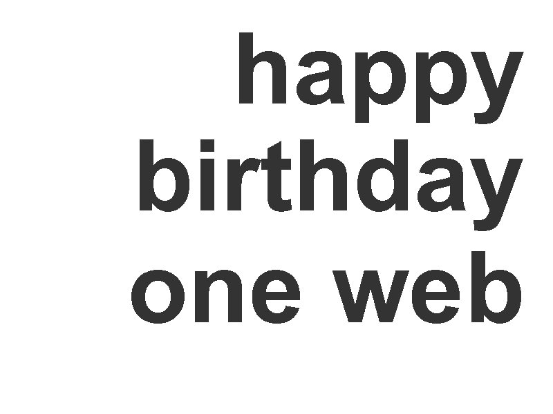 happy birthday one web